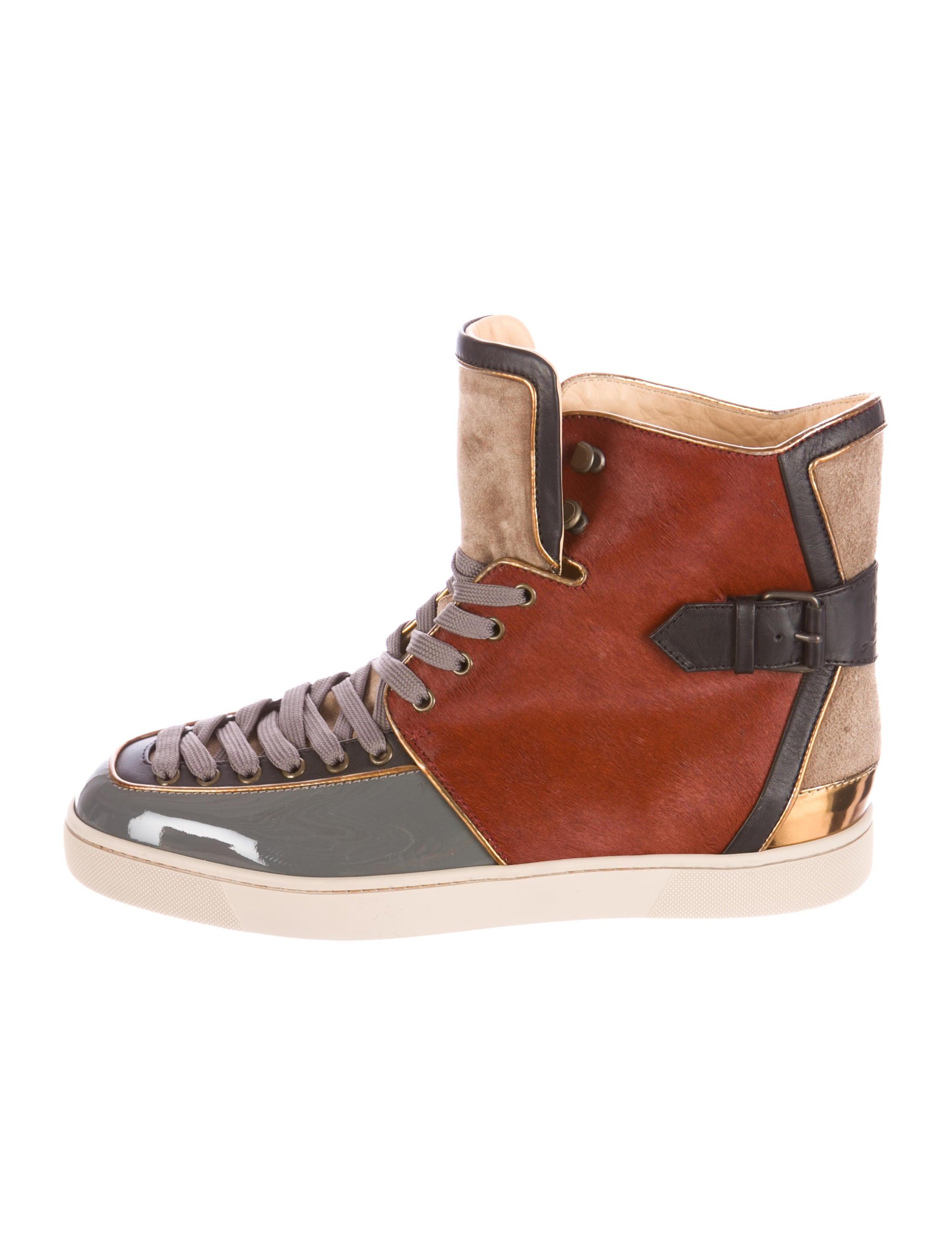 new concept 551d0 cb08d Artesur » christian louboutin high-top sneakers burgundy ...