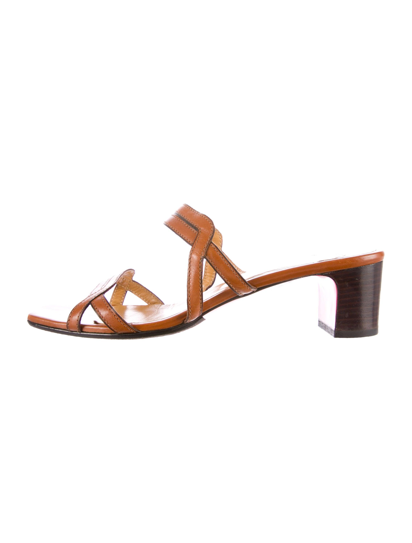 Artesur ? christian louboutin slide sandals Caramel leather ...