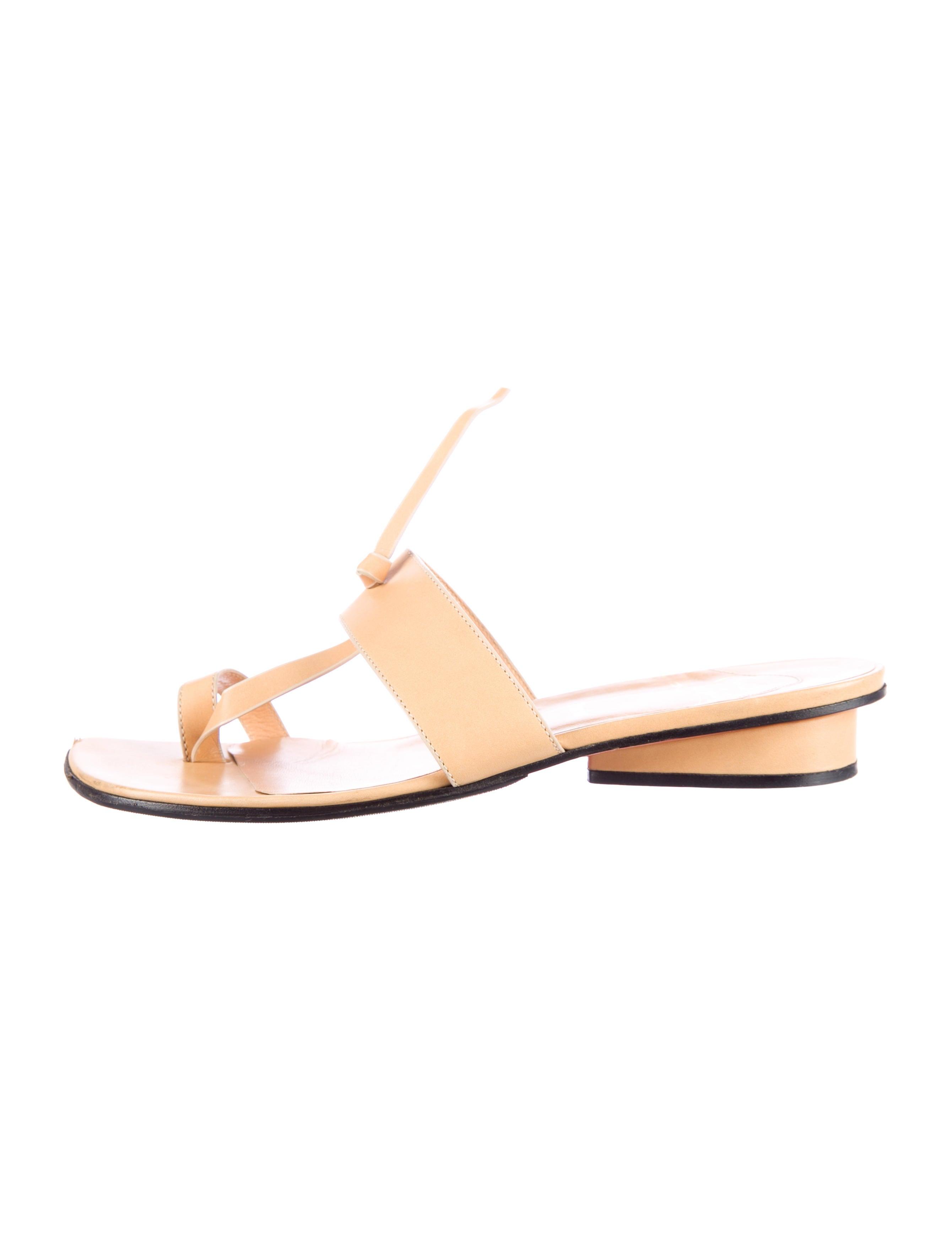 christian louboutin leather slide sandals | cosmetics digital ...