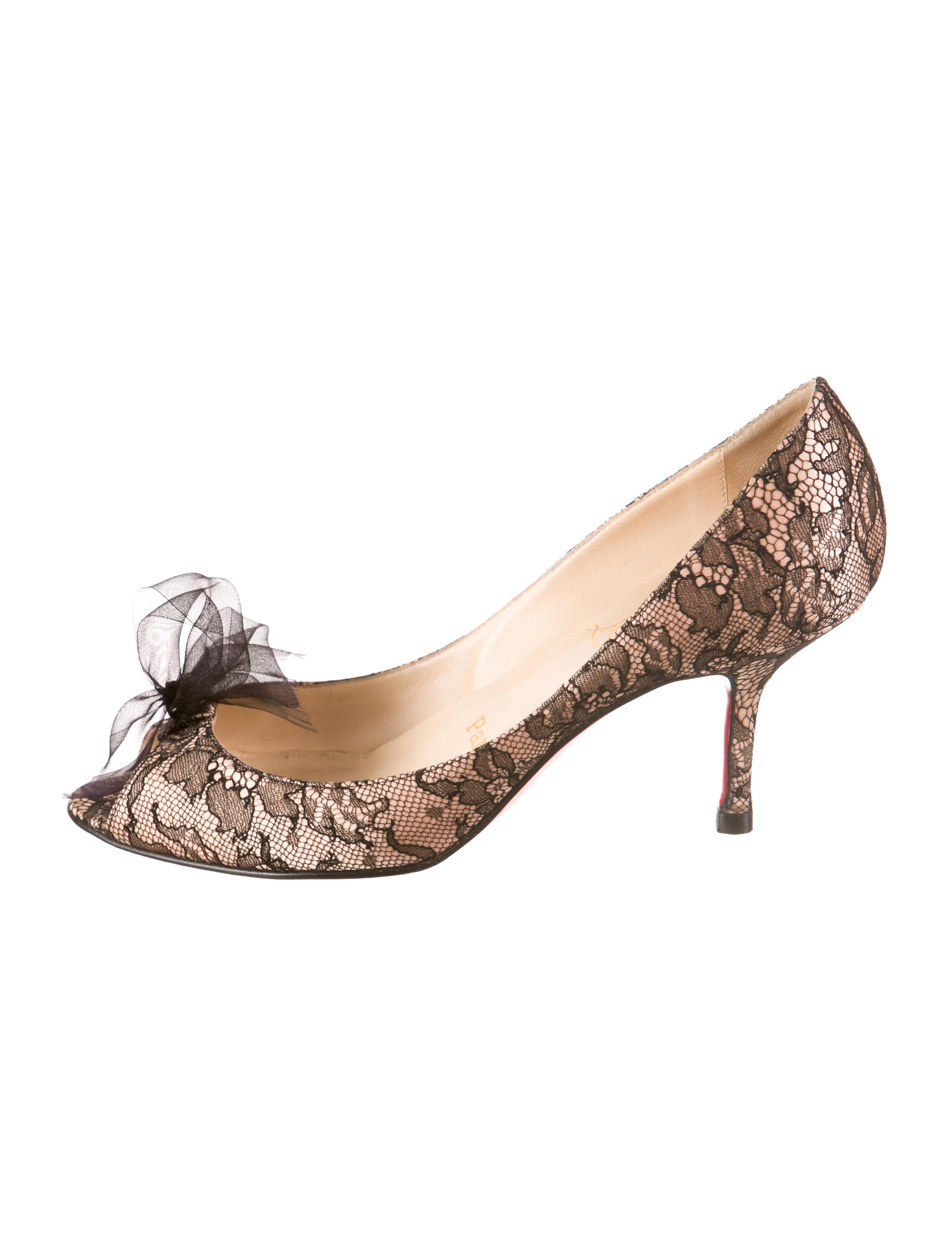 counterfeit christian louboutin shoes - Artesur ? christian louboutin satin pumps Nude and black lace overlay