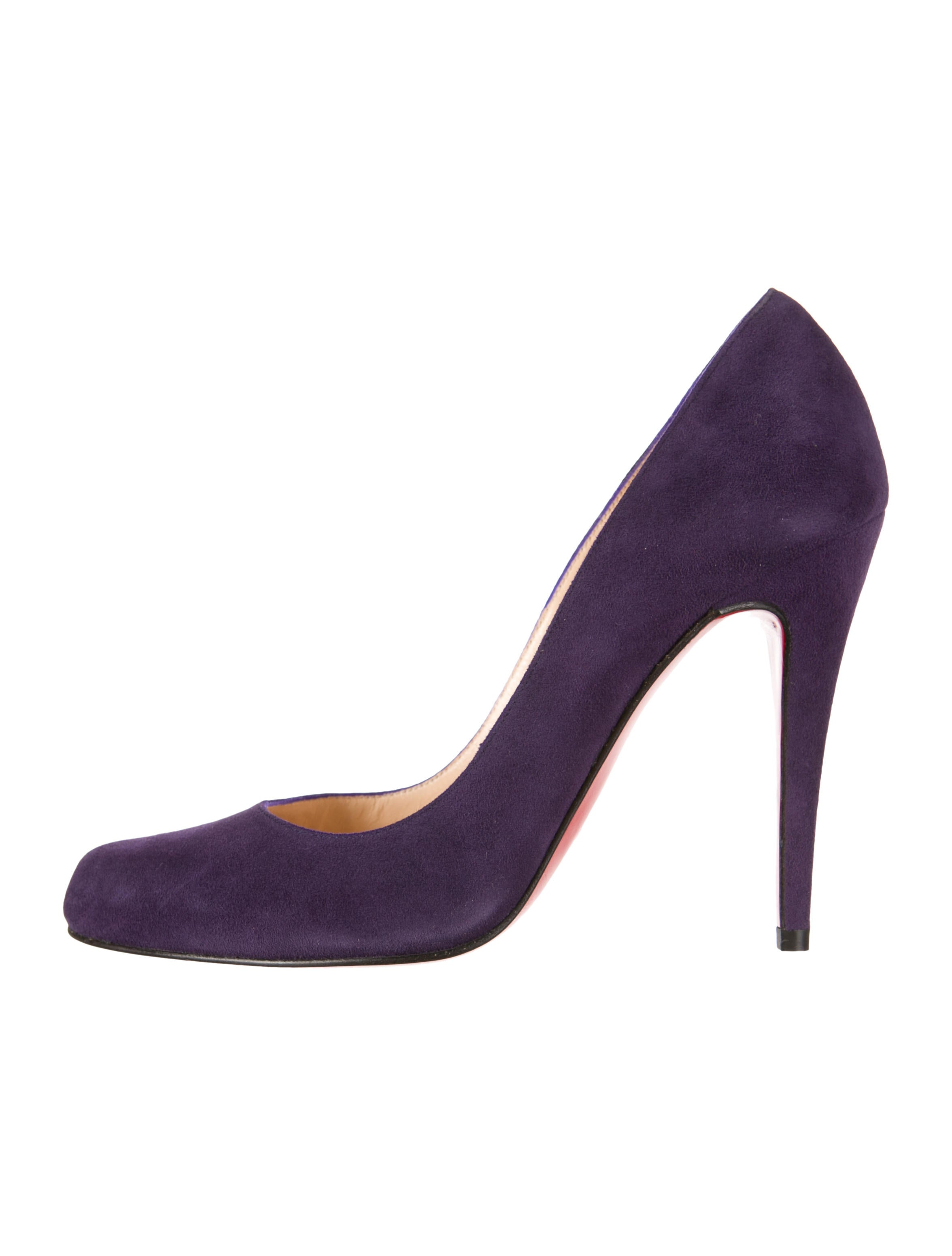 what are red bottom shoes for men - christian louboutin suede Decollete pumps Purple pointed toes ...