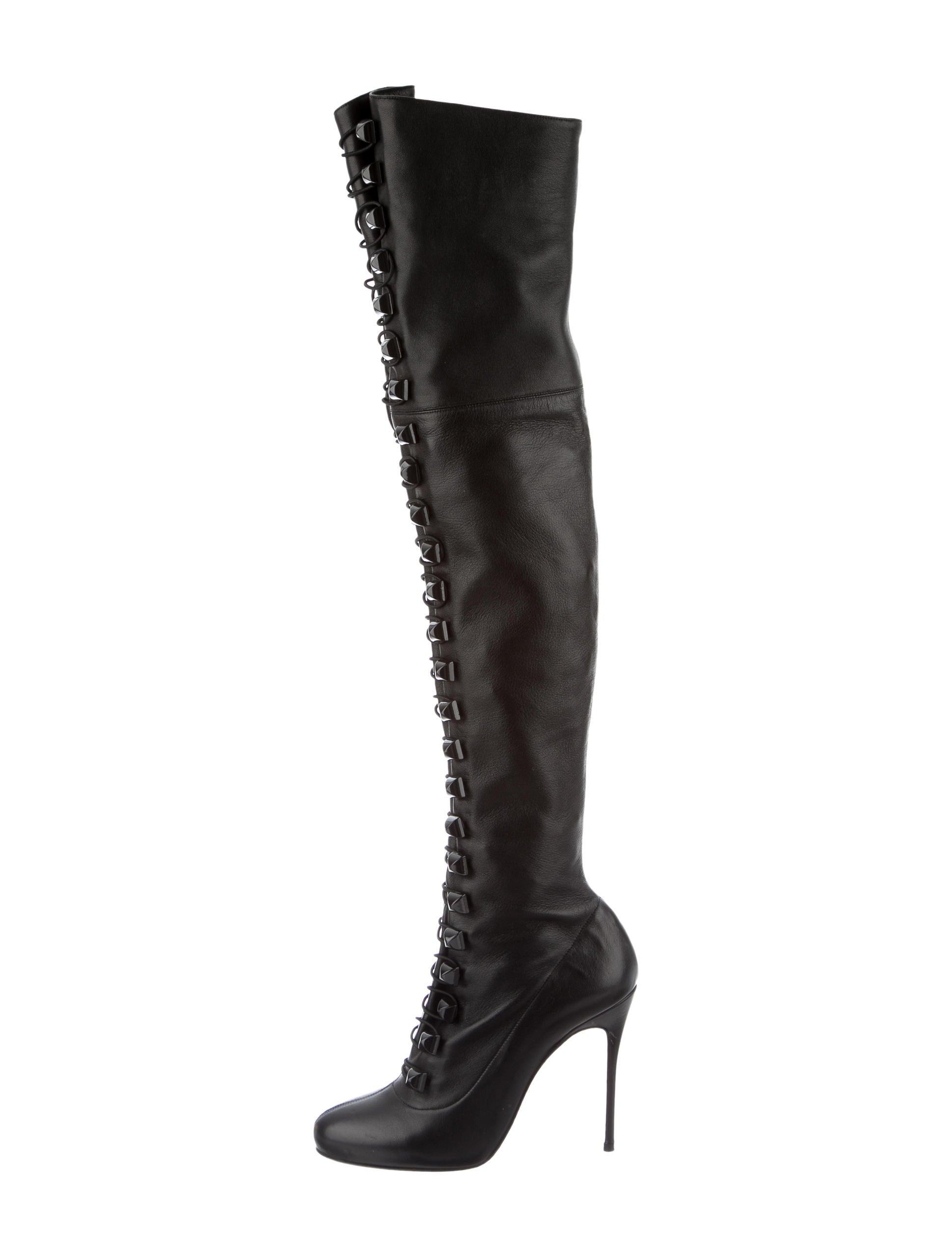 Artesur ? christian louboutin knee-high boots Black leather toggle ...