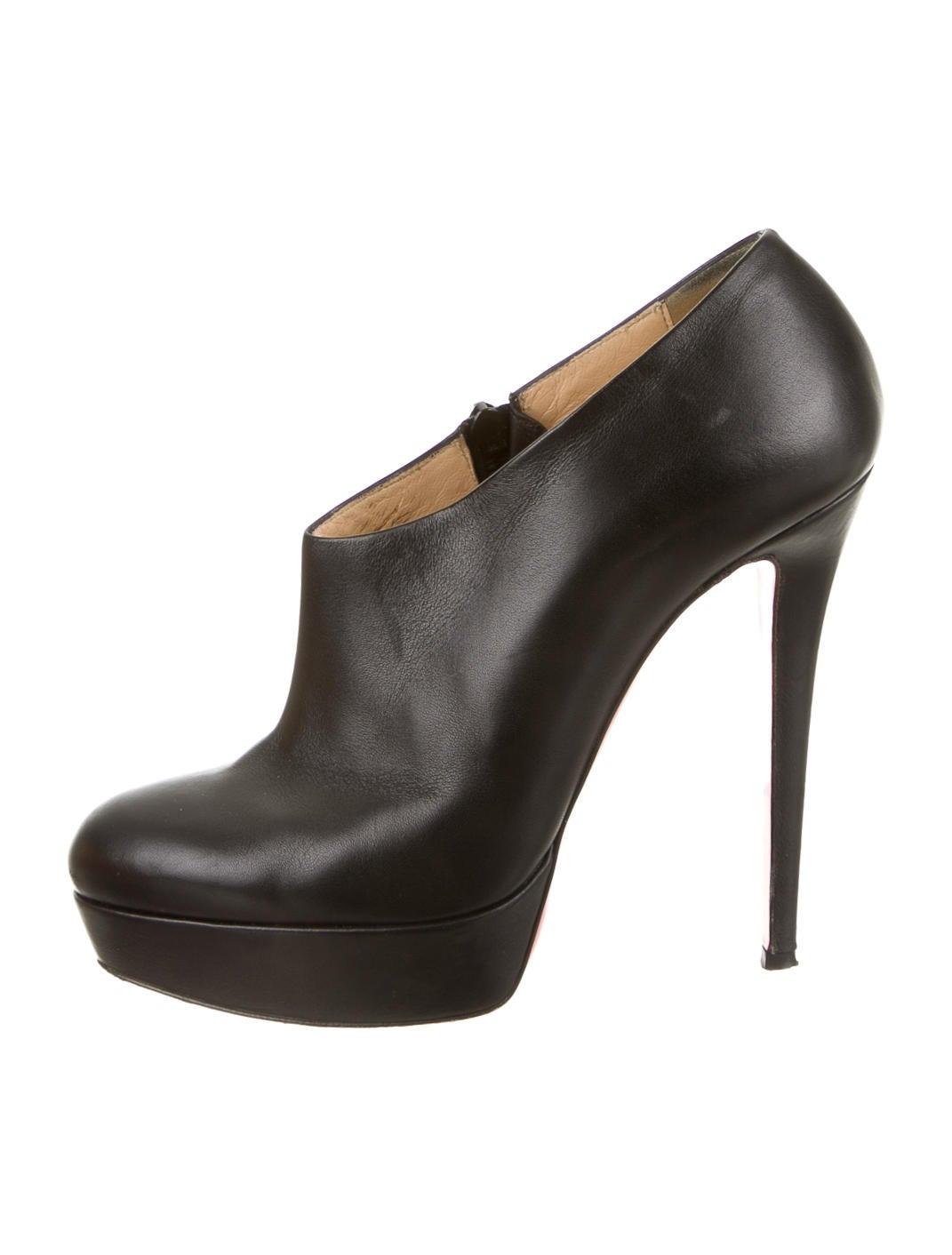 abf9d0d8e83 Artesur » christian louboutin Moulage platform booties Black leather ...