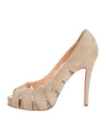 christian louboutin Armadillo booties tiered leather Light brown ...