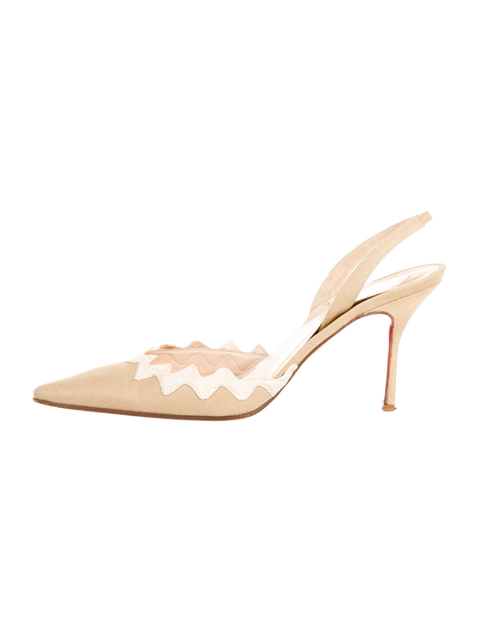 replica flats - christian louboutin canvas pointed-toe pumps, fake christian louboutin