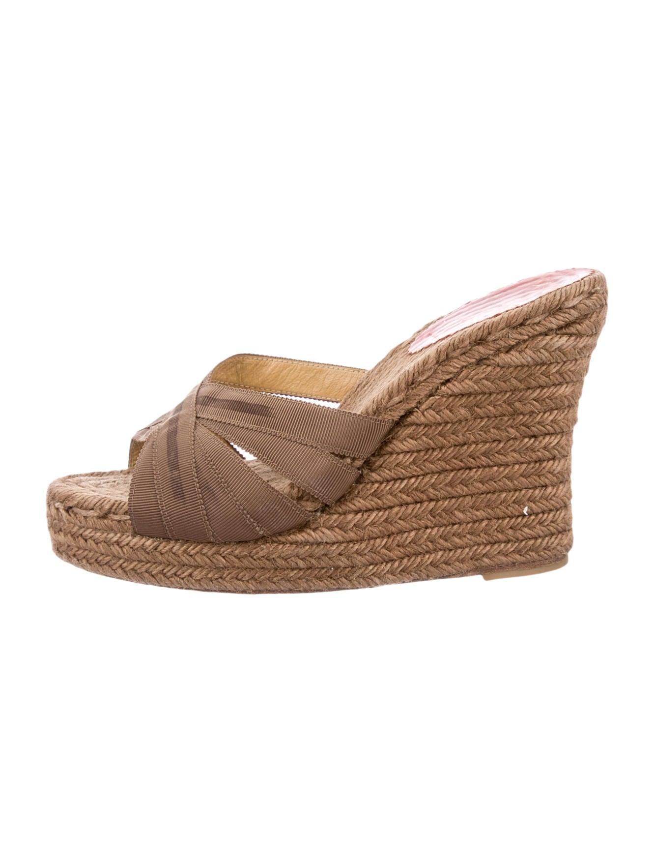 christian louboutin round-toe sandals Brown ribbon | The Filipino ...