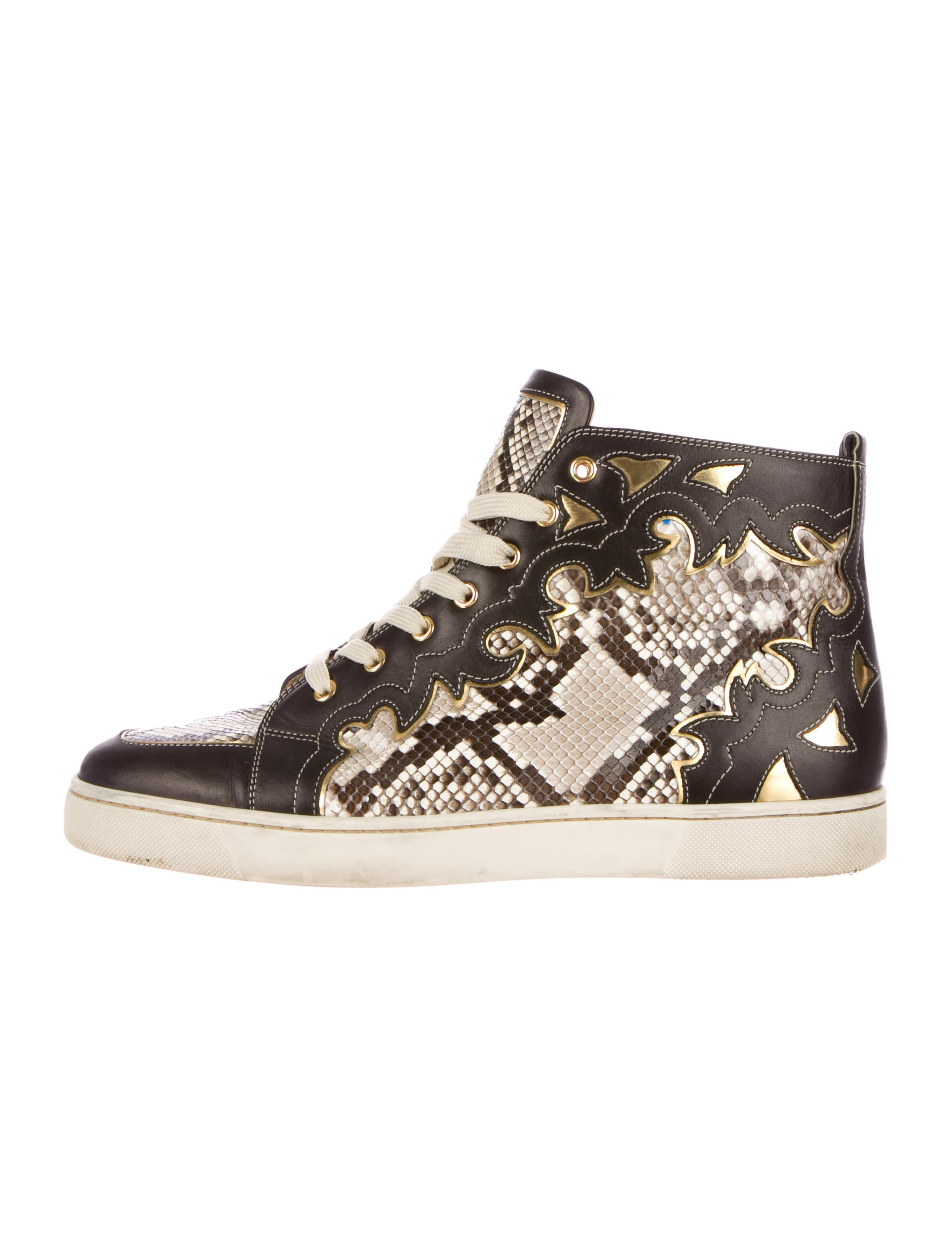 online retailer b5077 9b8ca Artesur » christian louboutin Orlato high-top sneakers brown ...