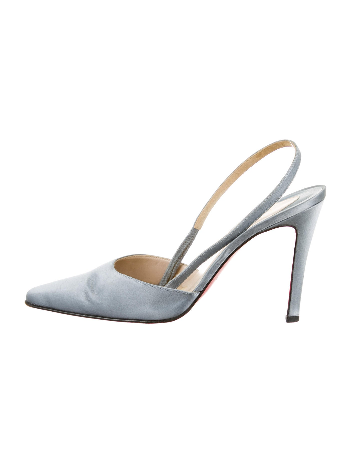 christian louboutin slingback pointed-toe pumps