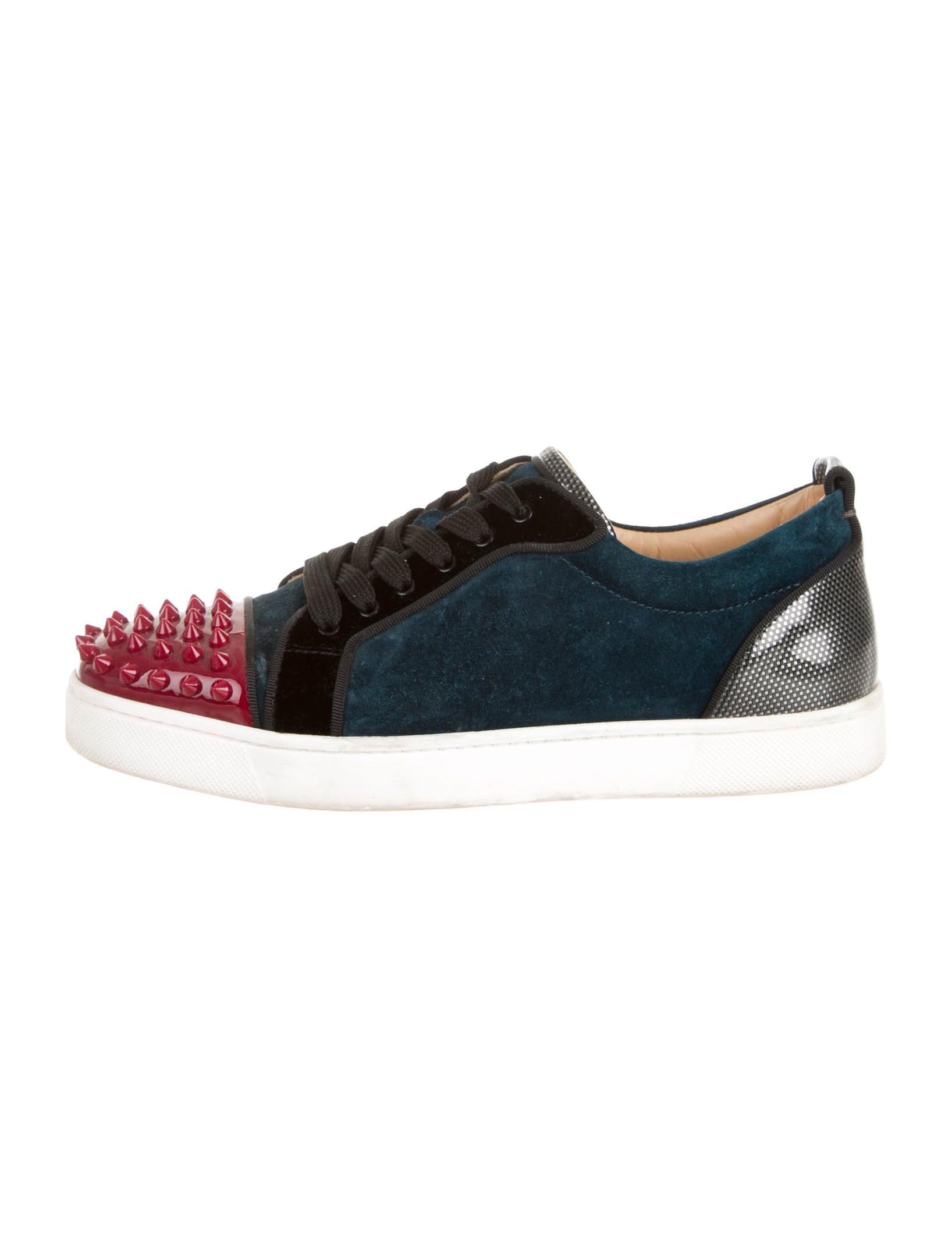 1f23e11e51ed Artesur » christian louboutin round-toe Louis Junior Spike sneakers ...