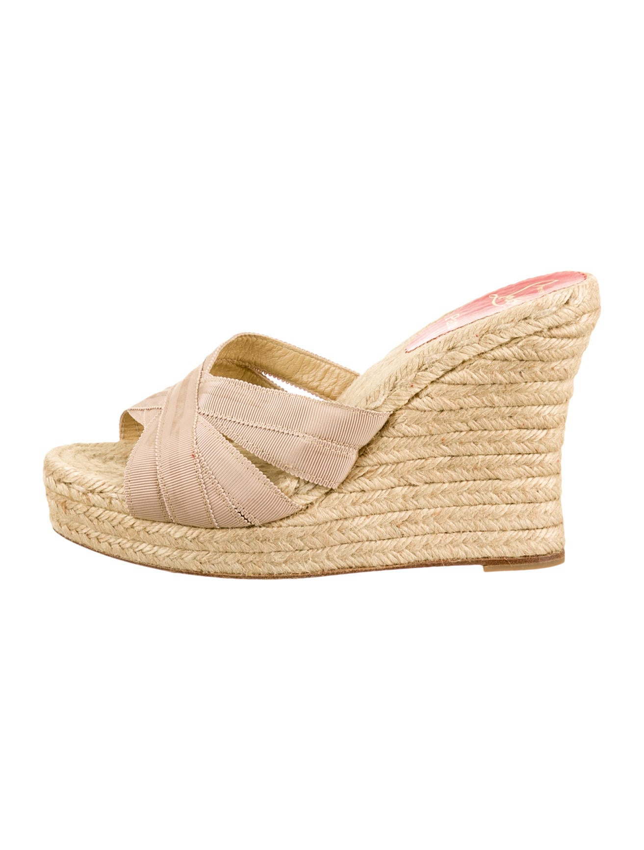 replica christian louboutin shoes - christian louboutin round-toe wedges Nude ribbon | The Little Arts ...