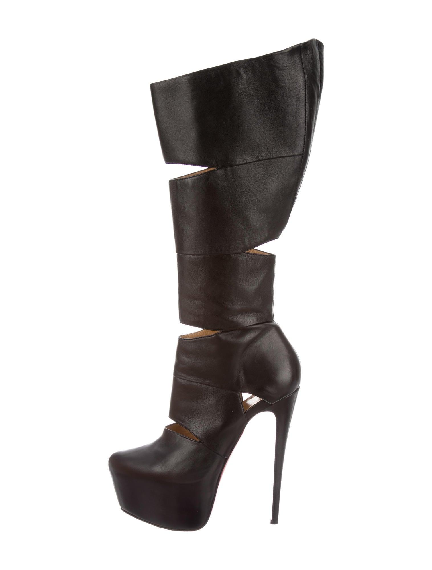 buy popular adcbe 018be Artesur » christian louboutin Bandita pointed-toe platform boots