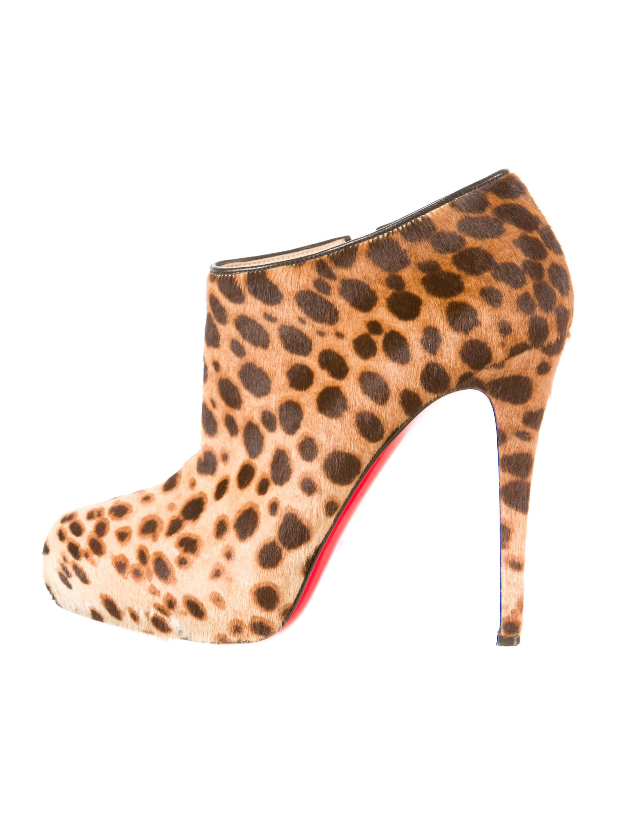 louboutin shoes price - christian louboutin pointed-toe pumps Tan and brown ponyhair ...