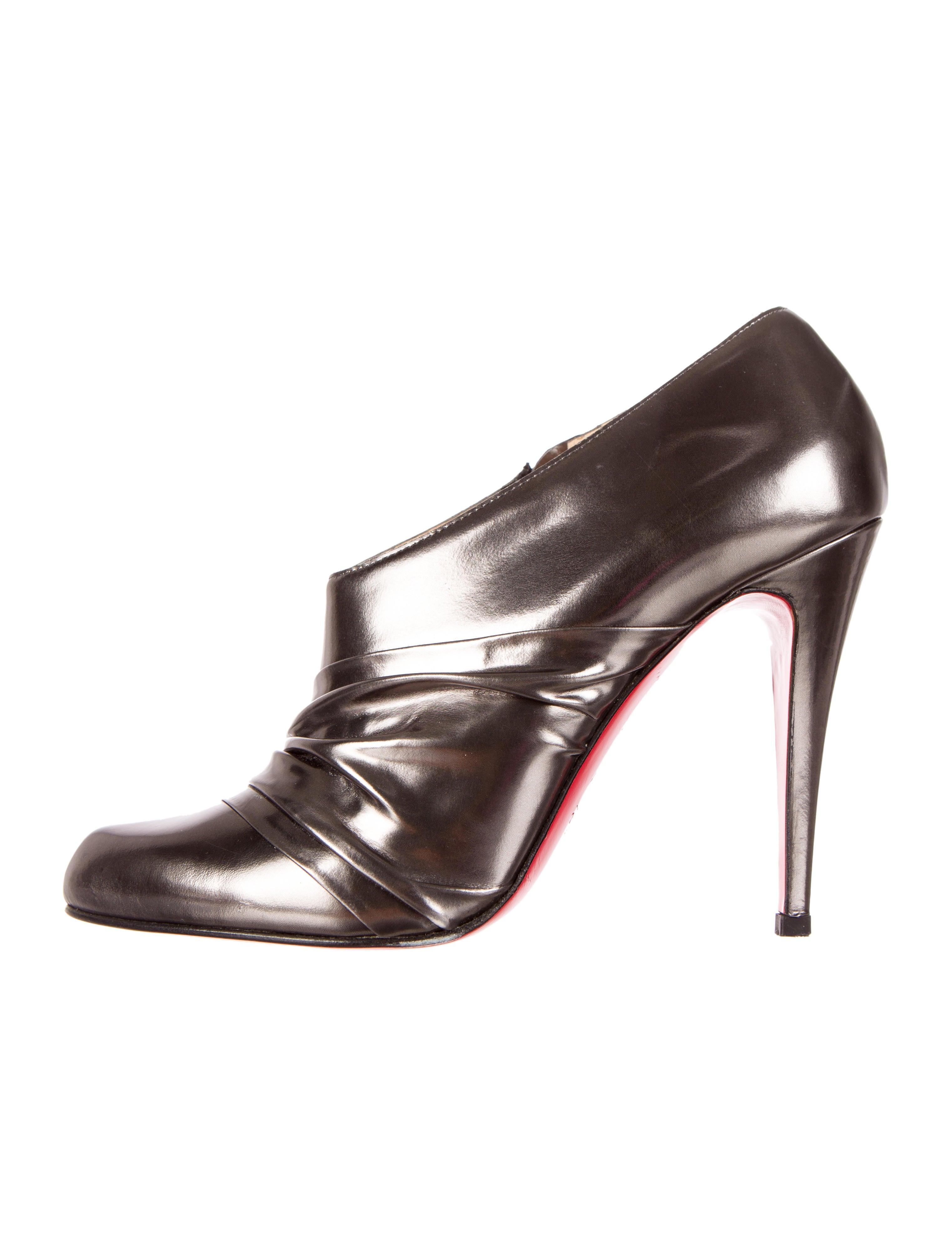 christian louboutin mens sneakers - Artesur ? christian louboutin Metallika booties Gunmetal leather ...