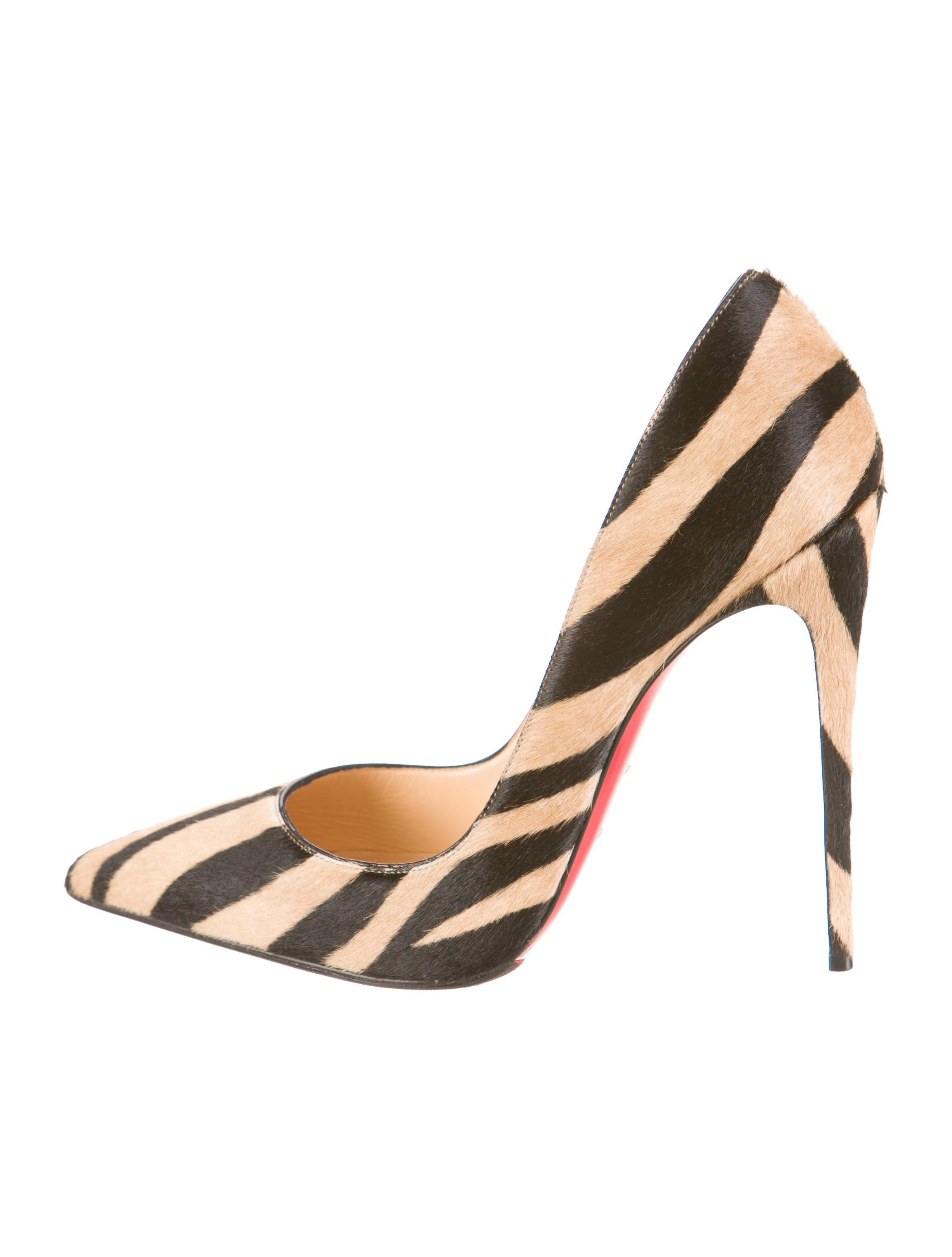 christian lubaton shoes - christian louboutin So Kate pointed-toe pumps Black and tan tiger ...