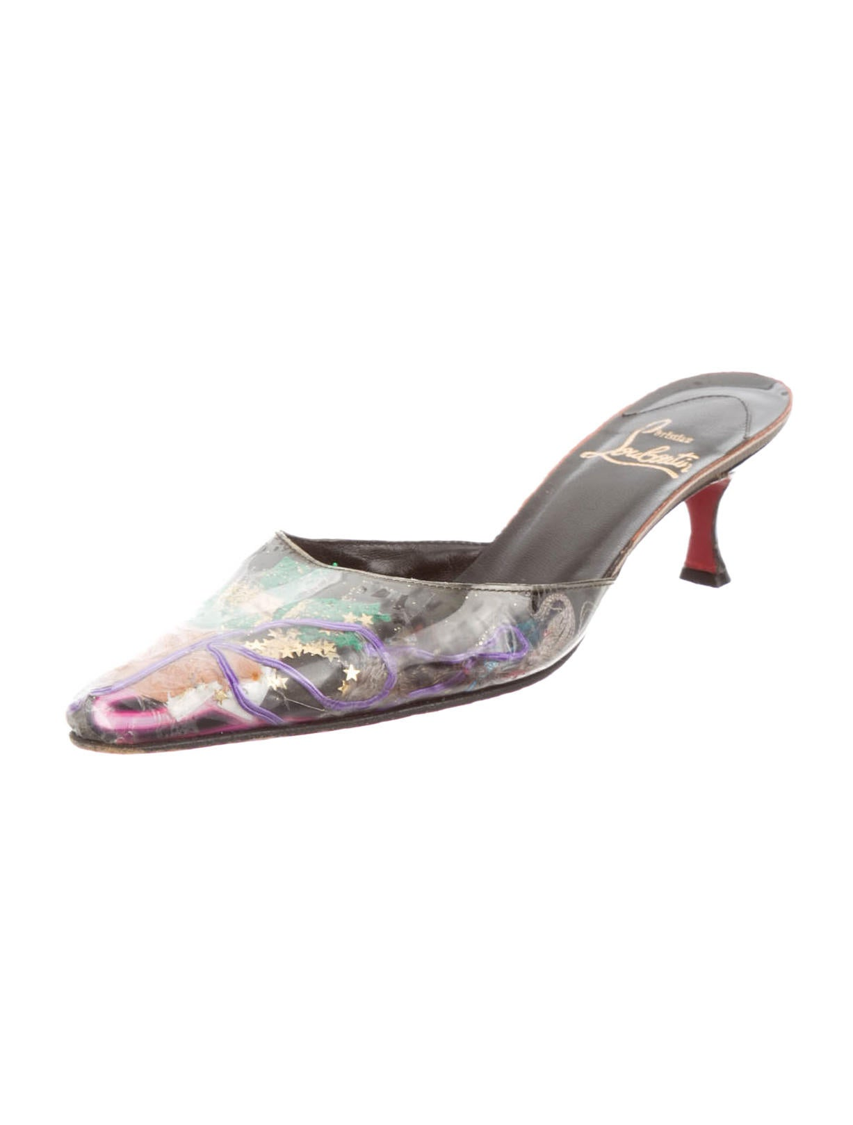 louboutin knock-off - Christian Louboutin Trash Collection Mules - Shoes - CHT36190 ...