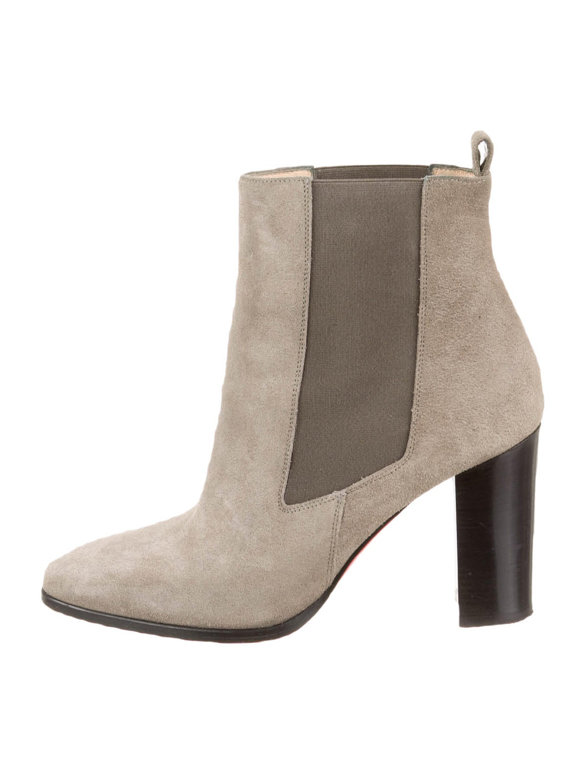 finest selection a5b22 a913d Artesur » christian louboutin round-toe ankle boots Grey suede