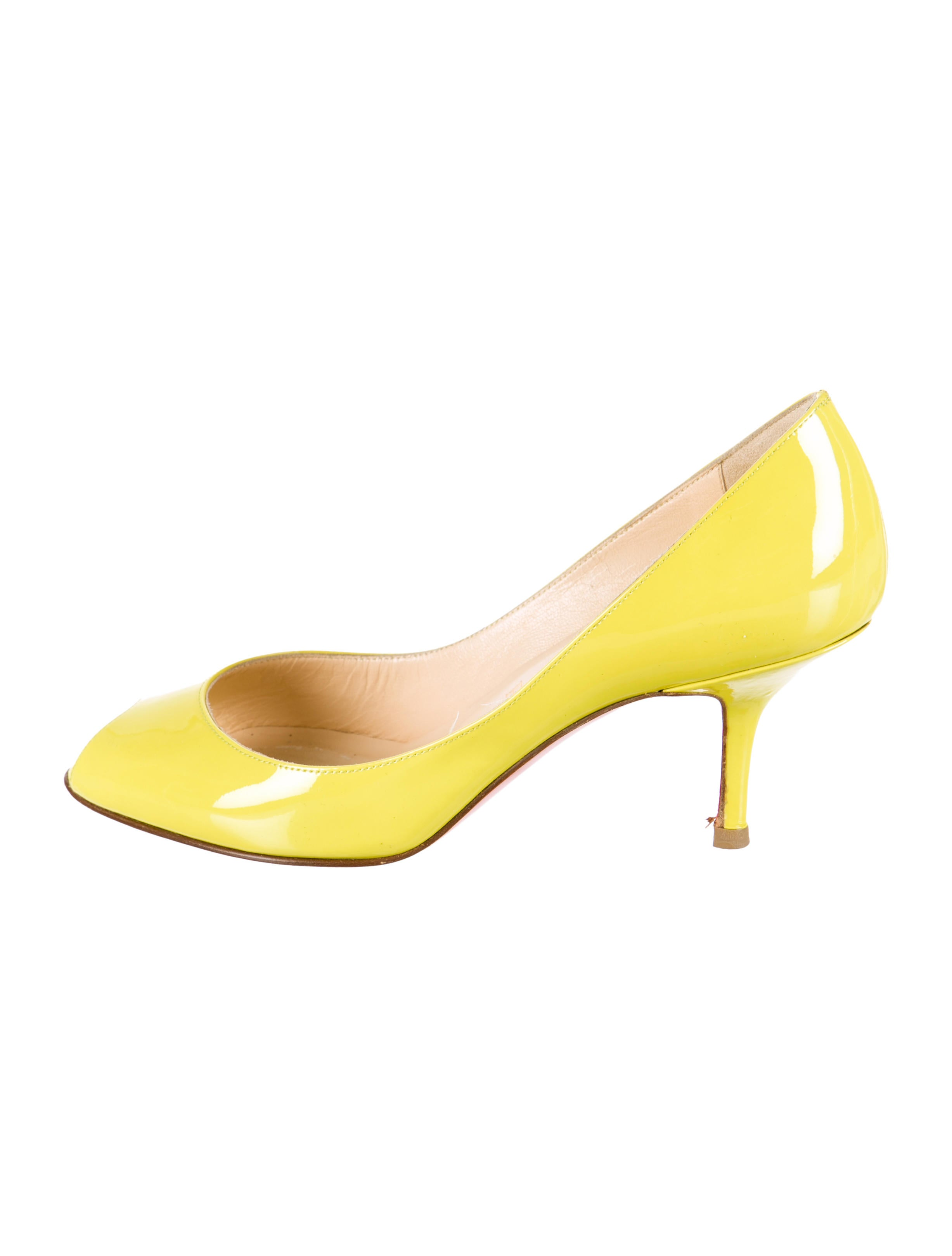 Artesur » christian louboutin patent leather You You pumps Yellow