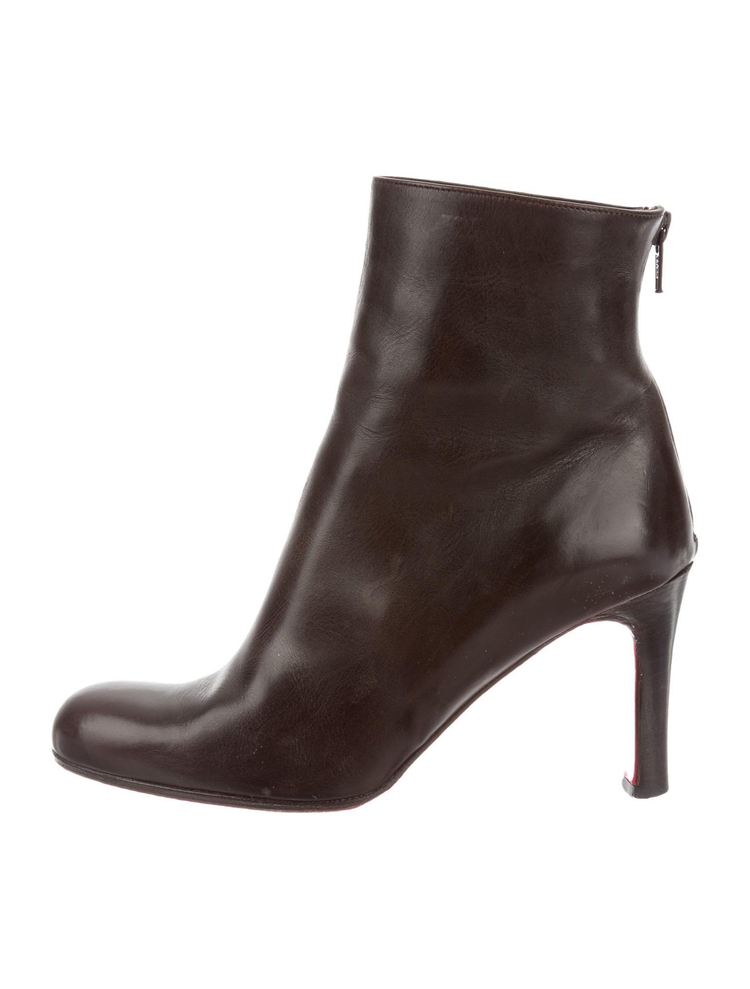 christian louboutin round-toe platforms boots