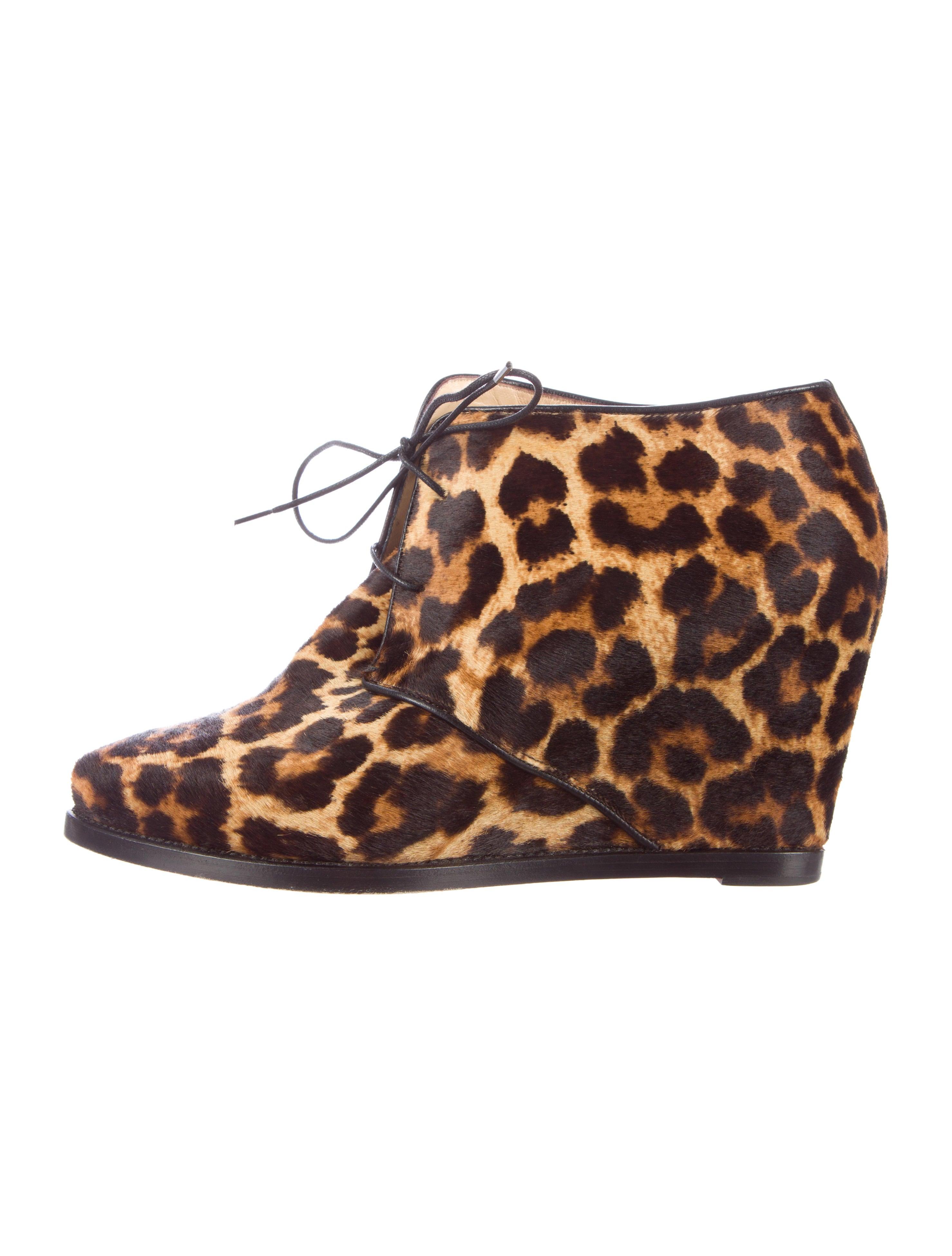 Artesur ? christian louboutin leopard print Lady Schuss wedges ...