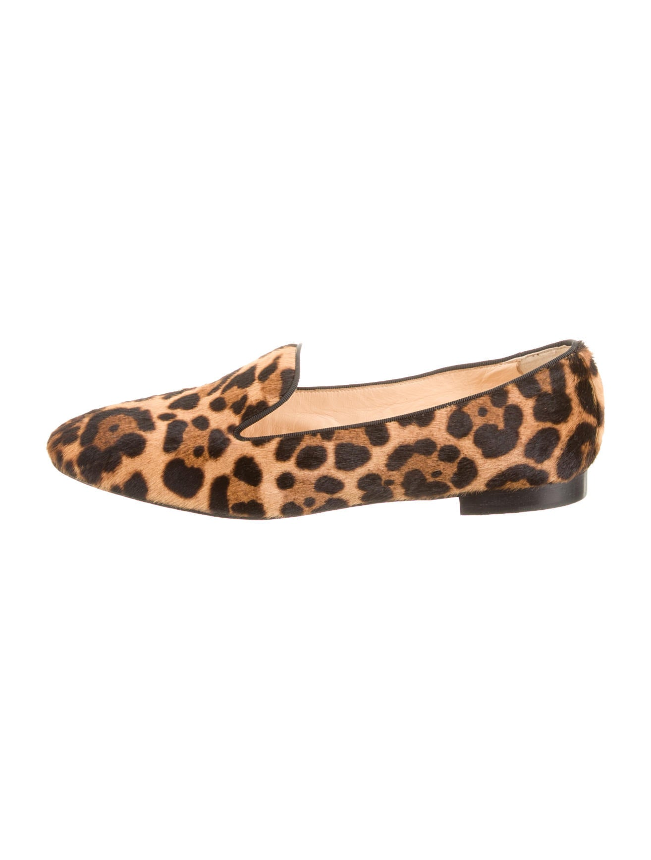 shoes with spikes for men - christian louboutin ponyhair round-toe loafers, christian ...