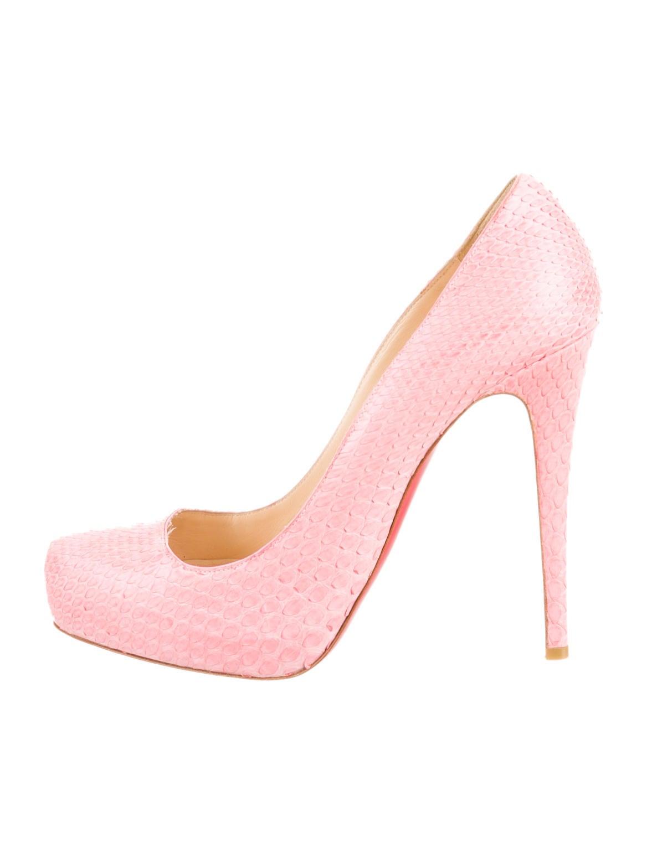 christian louboutin heels pink