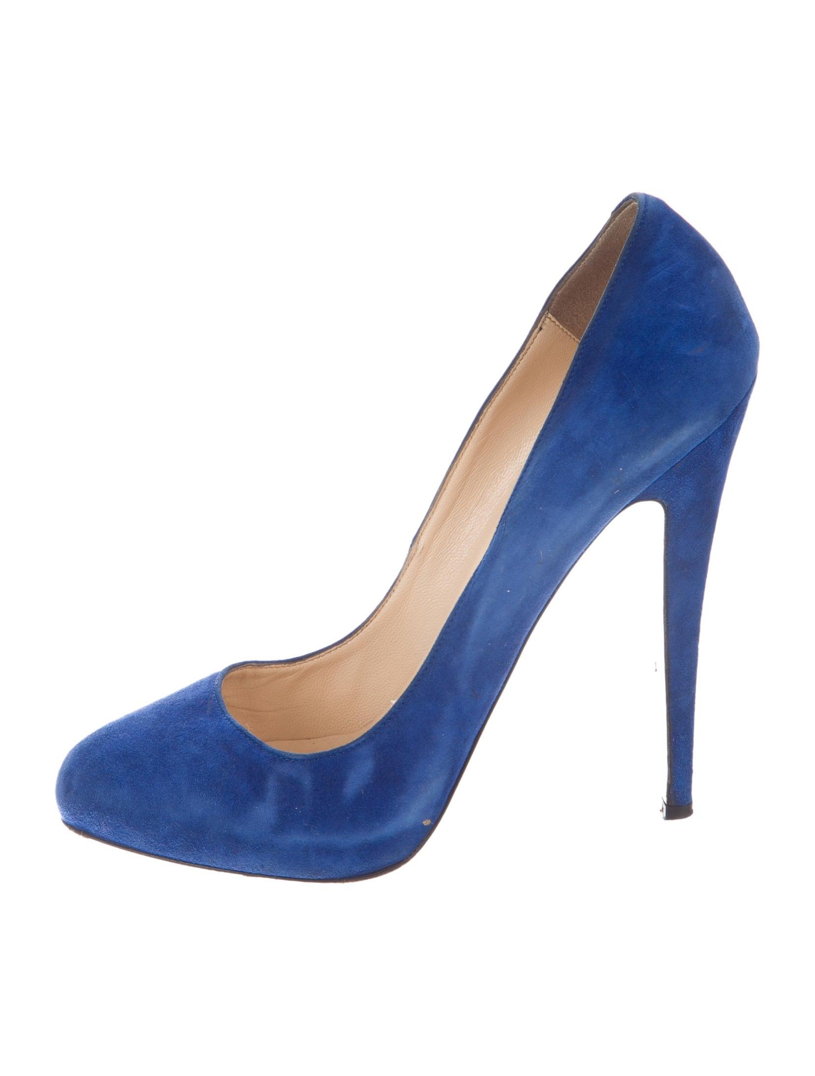 de753df96d86 Artesur » christian louboutin round-toe pumps Blue suede concealed ...