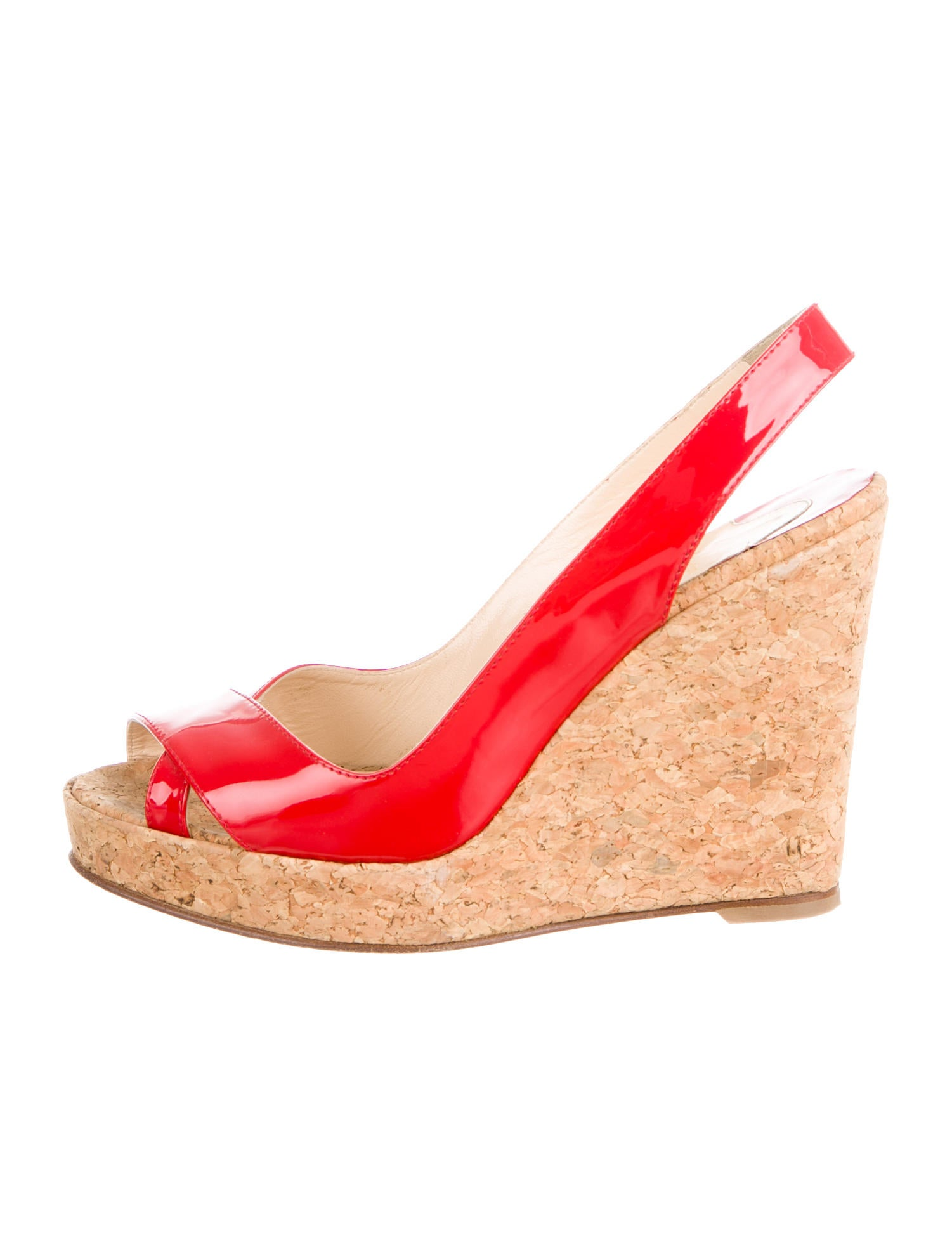 christian louboutin knockoffs usa - Artesur ? christian louboutin peep-toe slingback wedges Orange ...