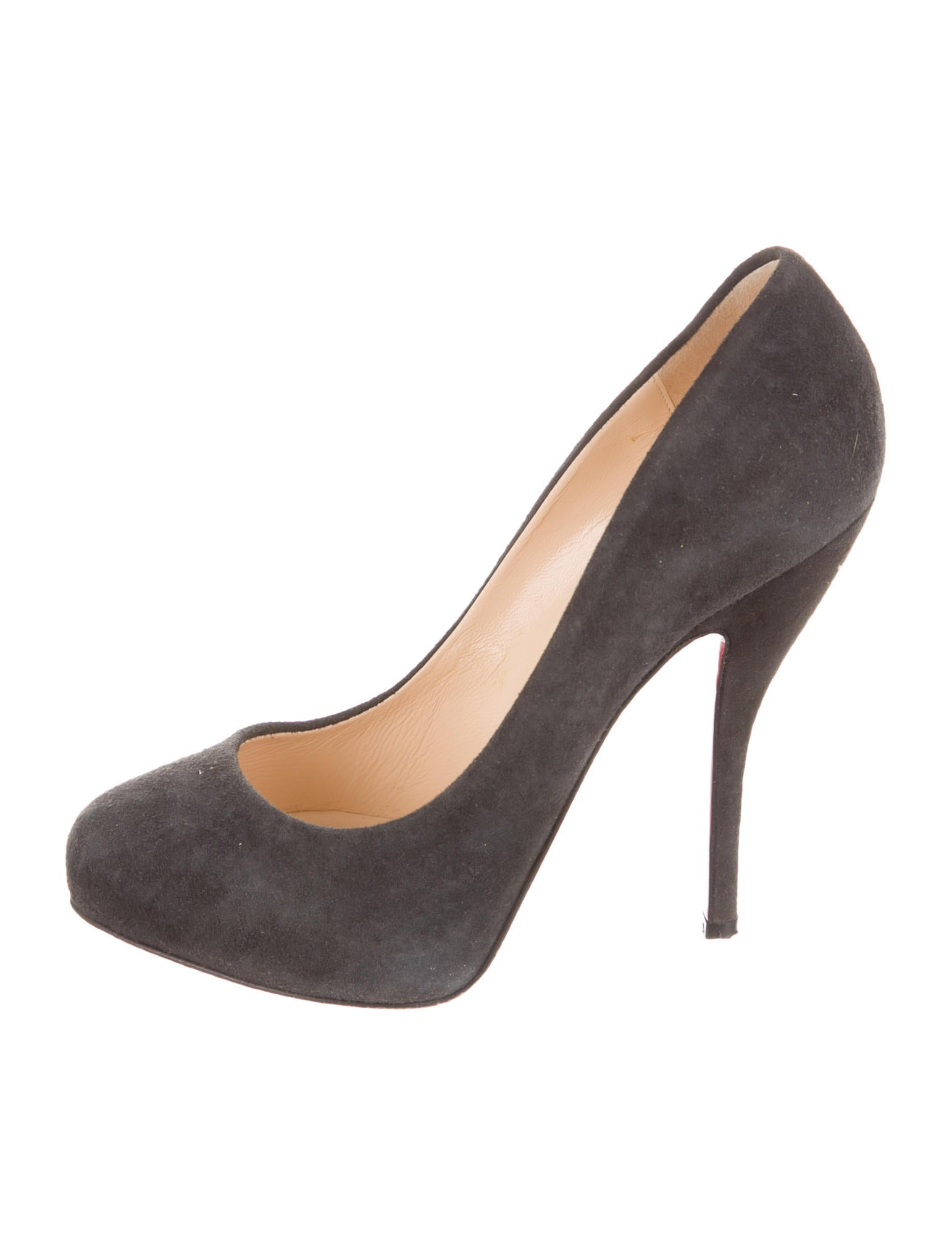 new arrival 7f886 5d1bc Artesur » christian louboutin round-toe pumps Grey suede ...