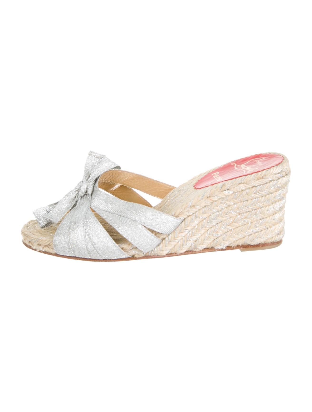 Artesur ? christian louboutin espadrille sandals Metallic silver ...