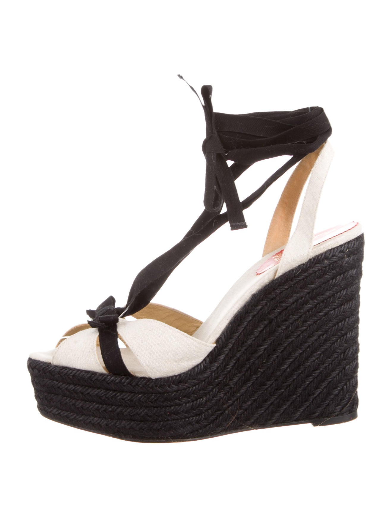 low price christian louboutin shoes - Artesur ? christian louboutin espadrille wedge sandals Beige and ...
