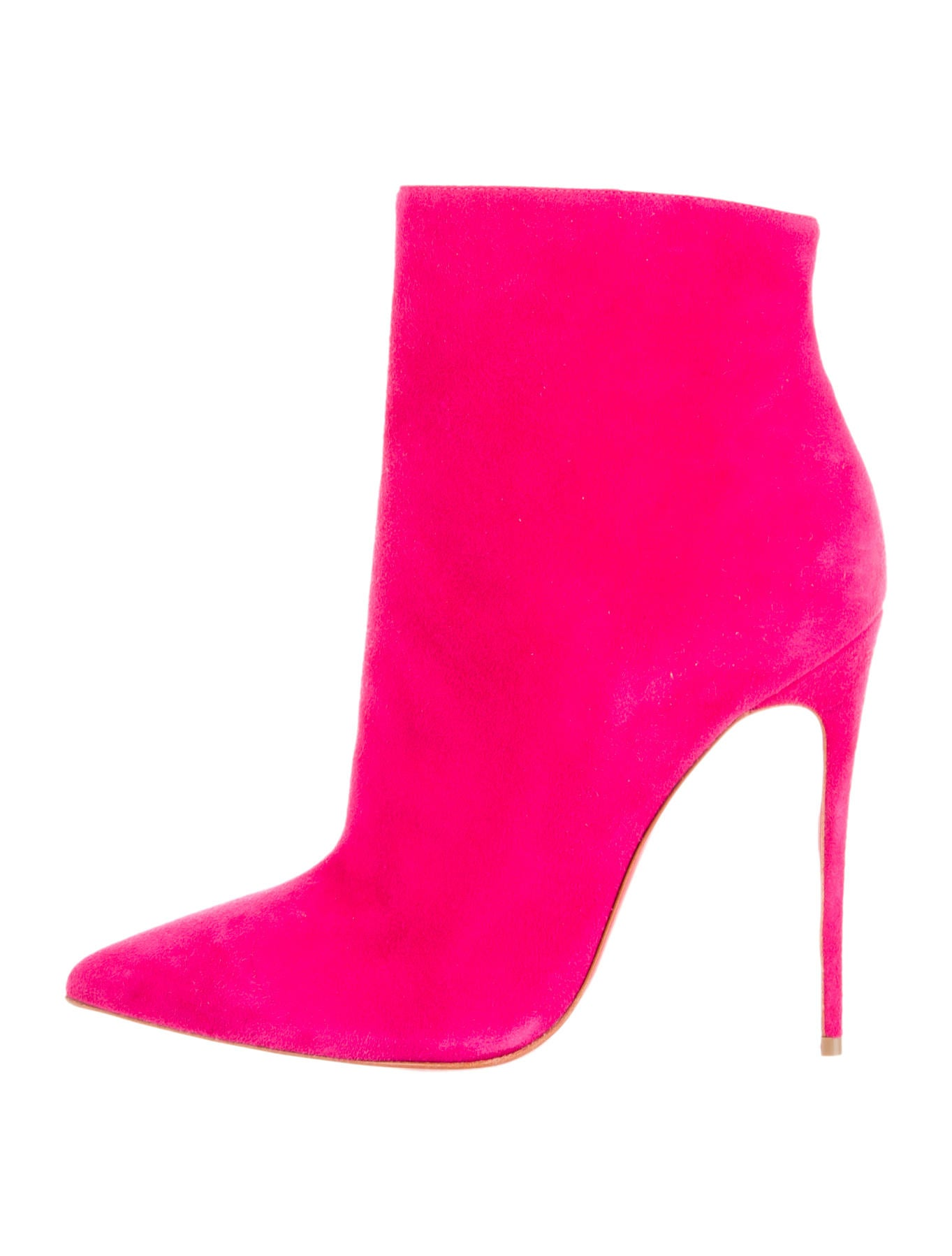 best website ea598 f8519 Artesur » christian louboutin ankle booties Pink suede ...