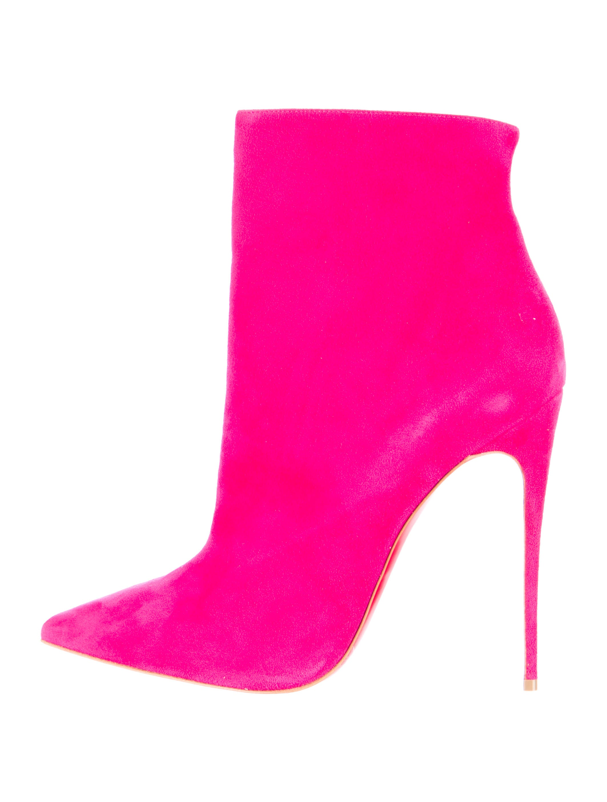 Artesur ? christian louboutin Kate Booties Hot pink suede pointed toes