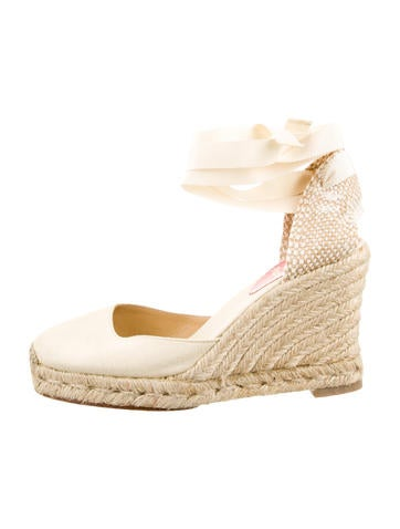 christian louboutins shoes for men - christian louboutin round-toe espadrille wedges Pink canvas | The ...