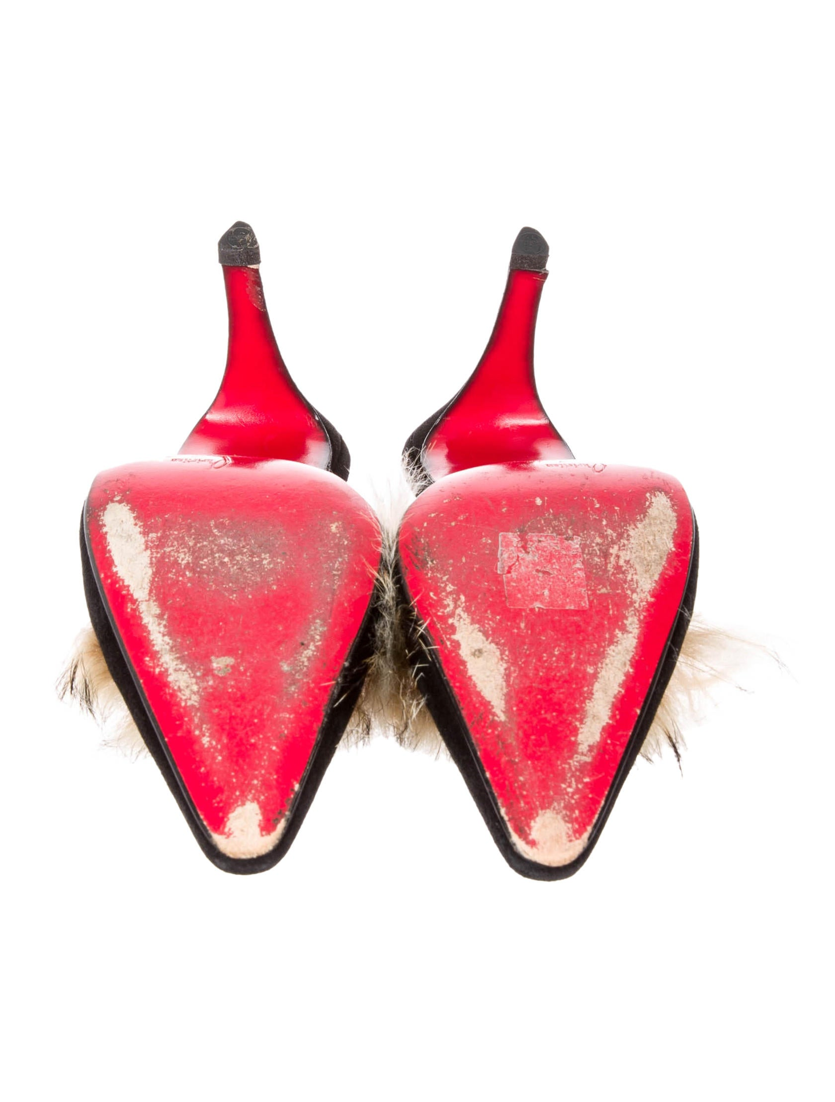 christian louboutin shoes replica - Christian Louboutin Fox Trim Mules - Shoes - CHT37685 | The RealReal