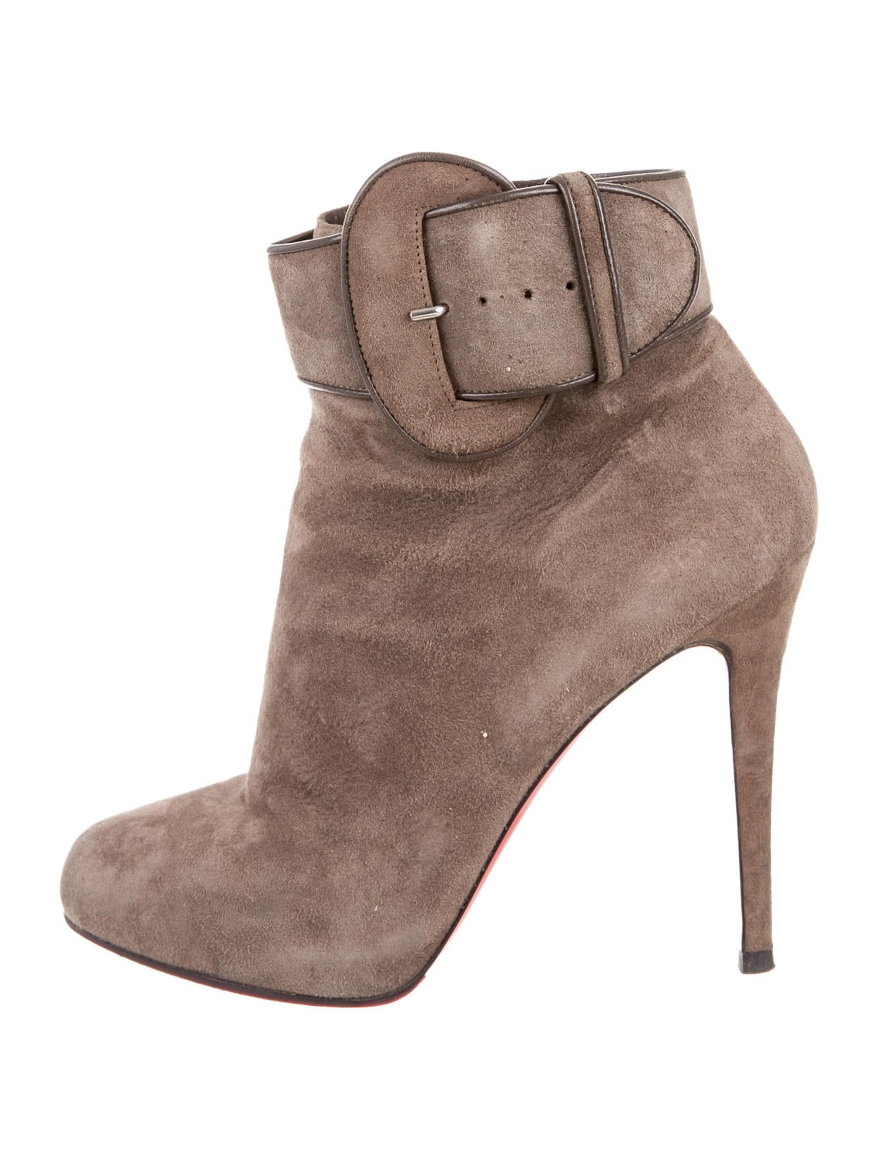 detailed look e89e3 a74bd Artesur » christian louboutin ankle boots Taupe suede buckle ...