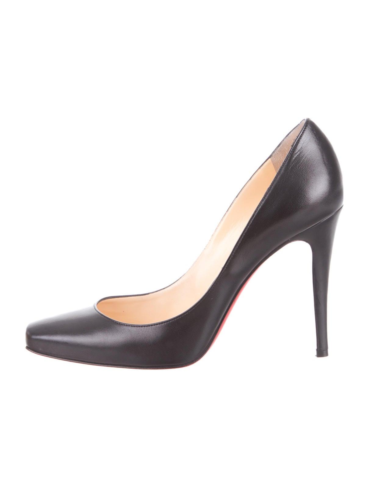 cheap replica christian louboutins - Artesur ? christian louboutin square-toe Particule pumps Black leather