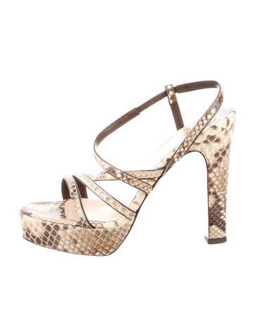 christian louboutin python sandals | cosmetics digital innovation ...