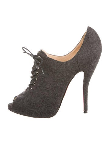 christian louboutin semi pointed-toe pumps Brown suede | The ...