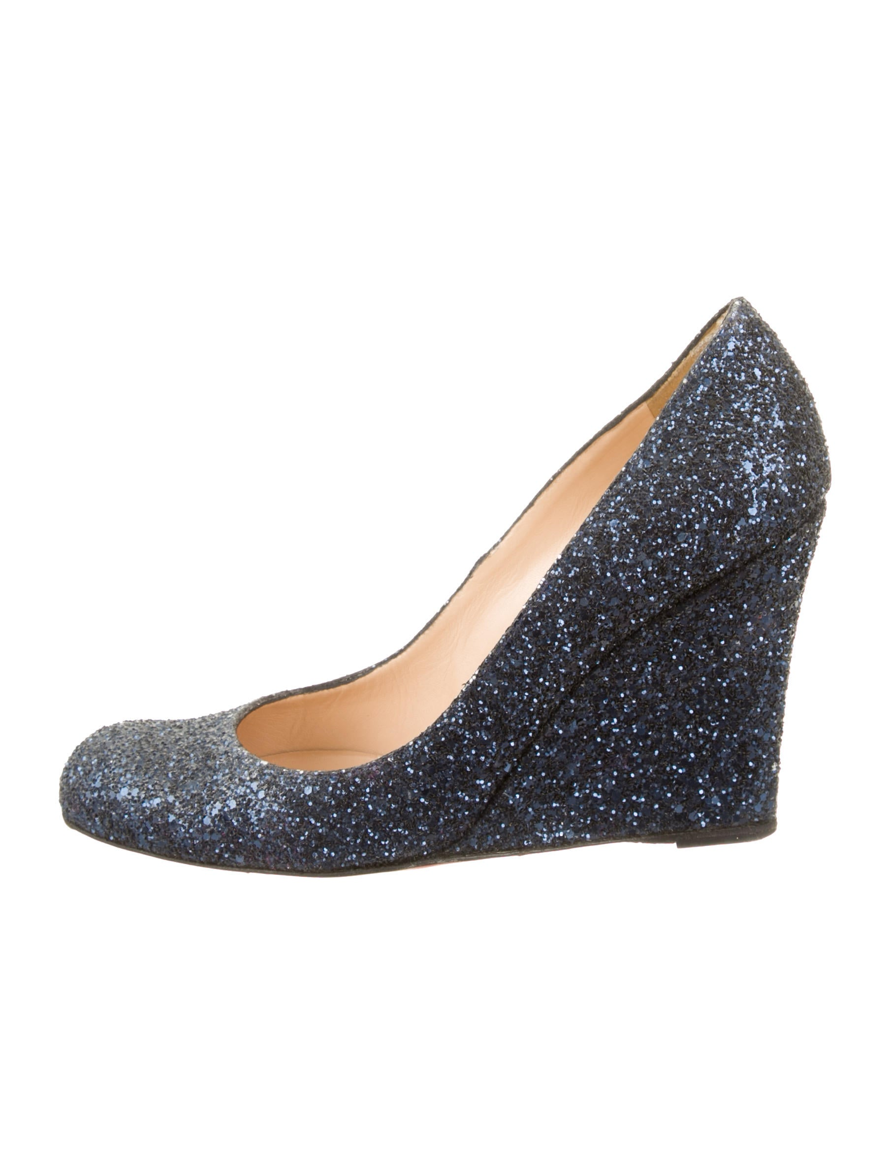 christian louboutin glitter wedges shoes cht38396