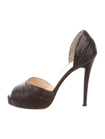 christian louboutin pointed-toe pumps Tan and brown ponyhair ...