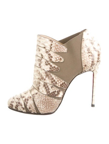 christian louboutin round-toe booties Metallic leather | cosmetics ...