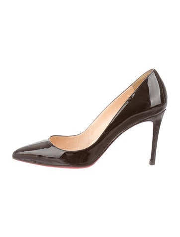 black christian louboutins - christian louboutin round-toe wedges Brown leather stacked heels ...