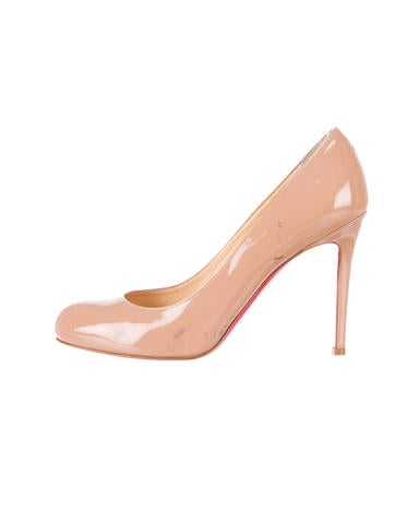 christian louboutin round-toe espadrille wedges Pink canvas   The ...