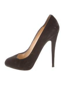 Christian Louboutin Peep-Toe Buckle-Embellished Pumps - Shoes ...
