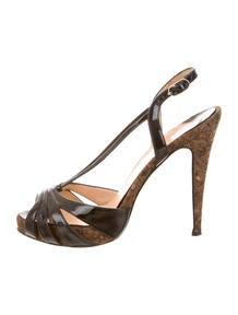 Christian Louboutin Leopard Print Slide Sandals - Shoes - CHT41721 ...