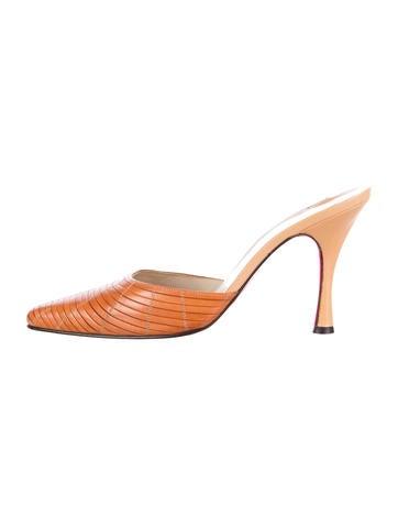 replica christian louboutin mens - Christian Louboutin Mules Luxury Fashion | The RealReal