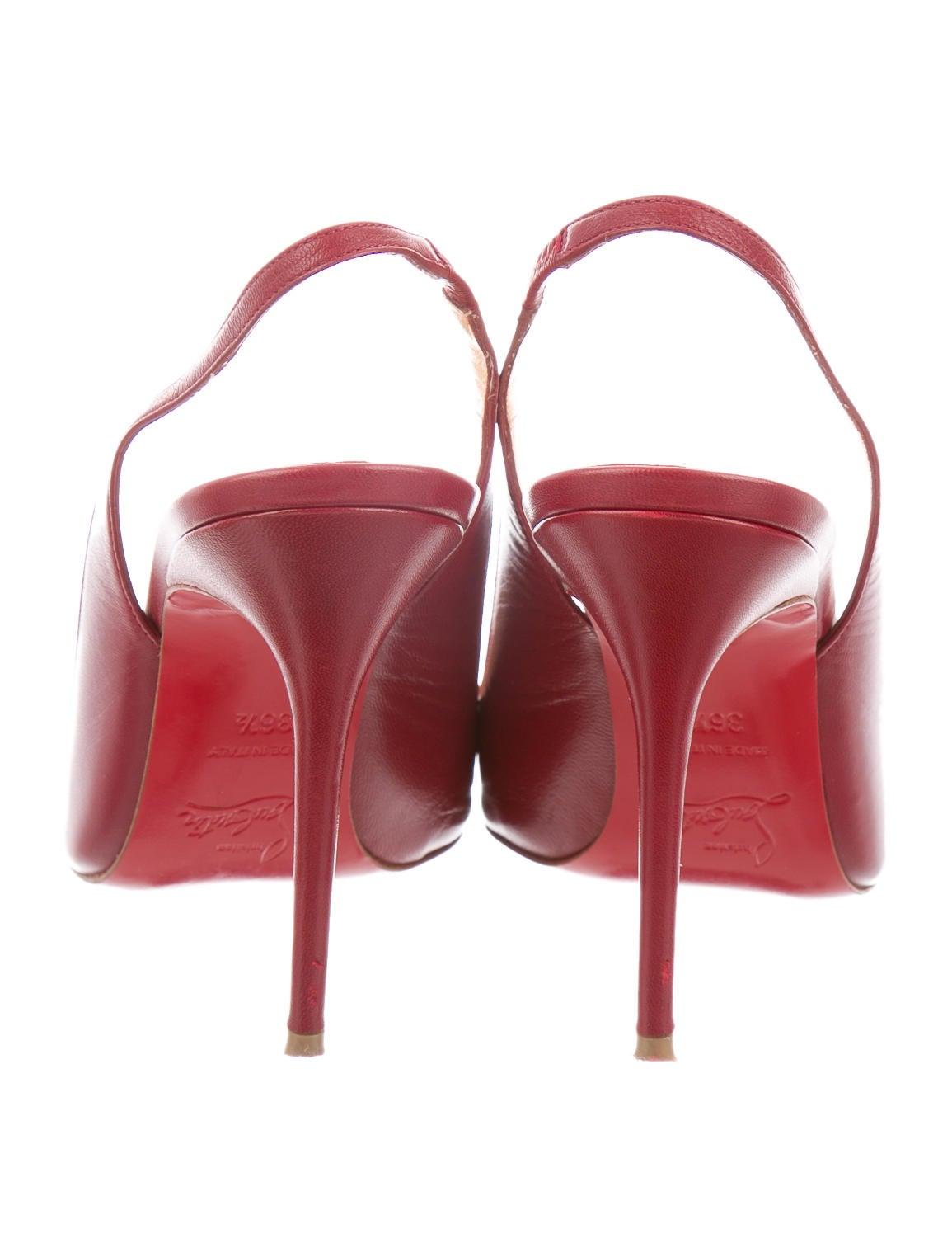 Christian Louboutin Fleuve 100 Slingback Pumps - Shoes - CHT42792 ...