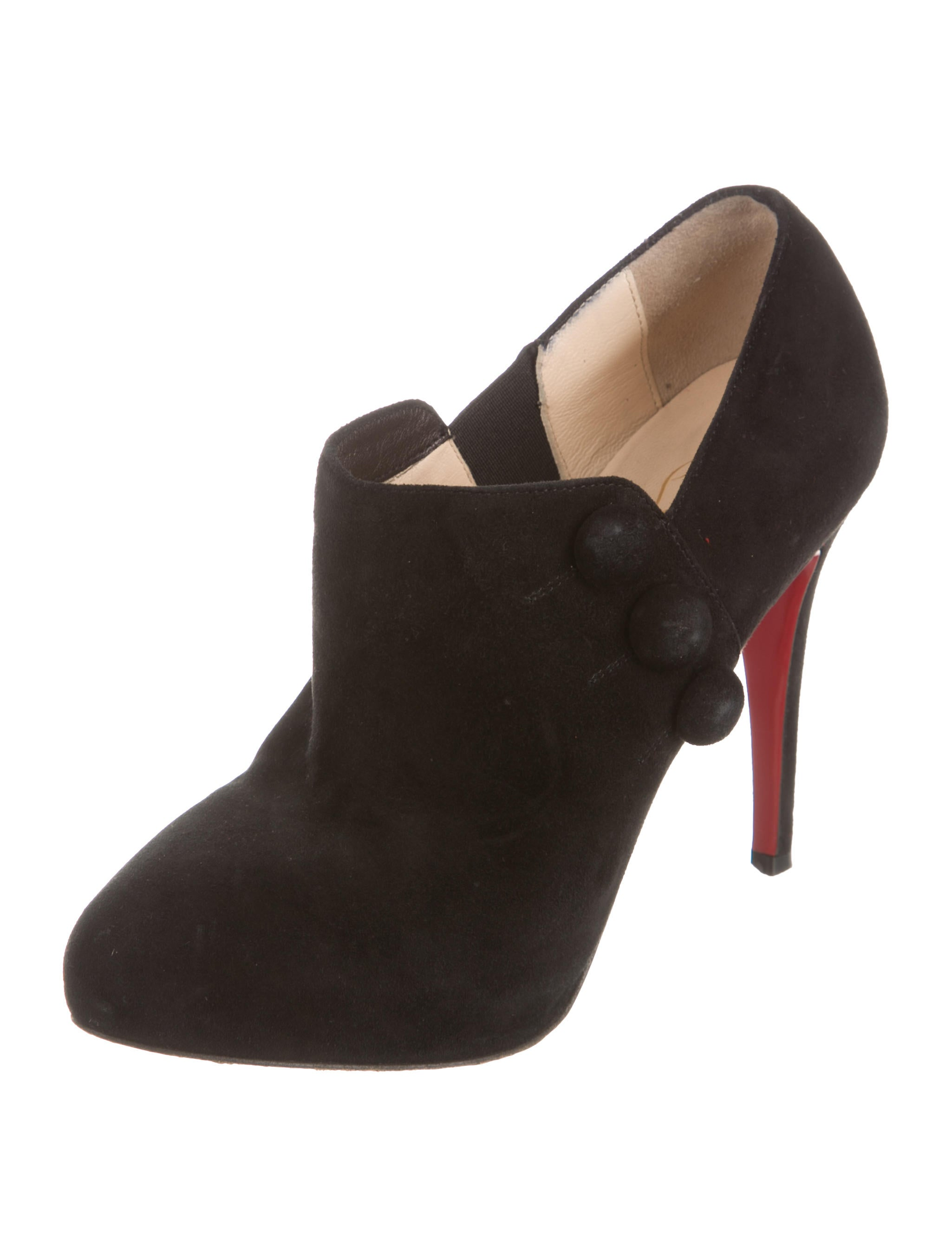 repica shoes - christian louboutin ponyhair round-toe booties, christian ...
