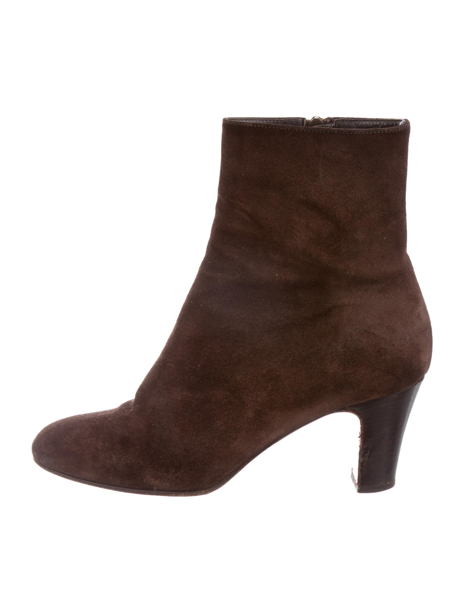 Christian Louboutin Suede Round-Toe Ankle Boots - Shoes - CHT42823 ...