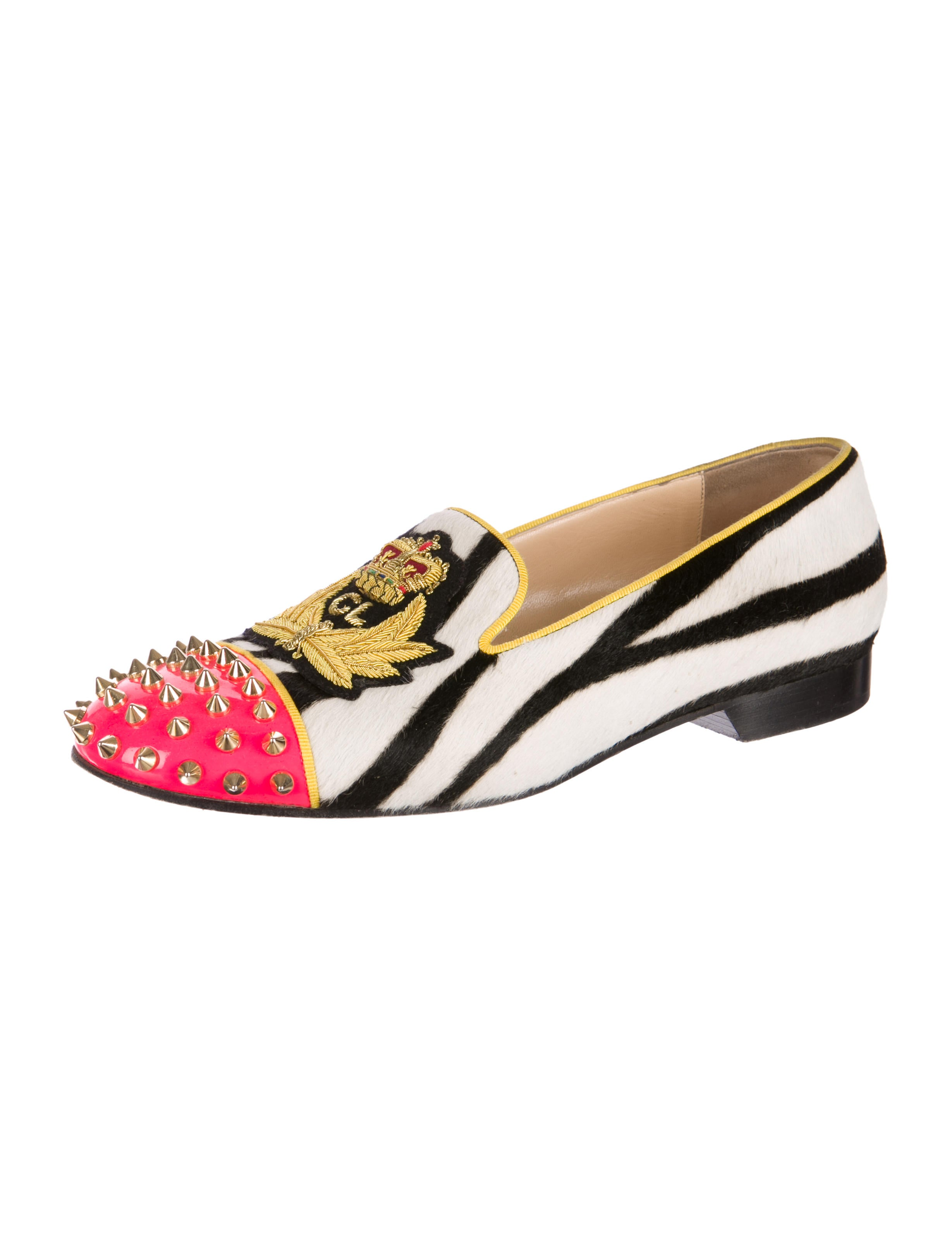 spiked loafers mens christian louboutin - Christian Louboutin Pony Hair Intern Spike-Toe Loafers - Shoes ...